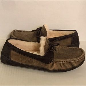 UGG BYRON Driving Slippers Bomber Leather 13 New